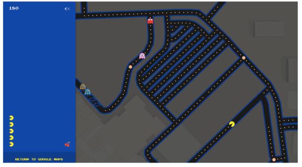 google maps - pacman